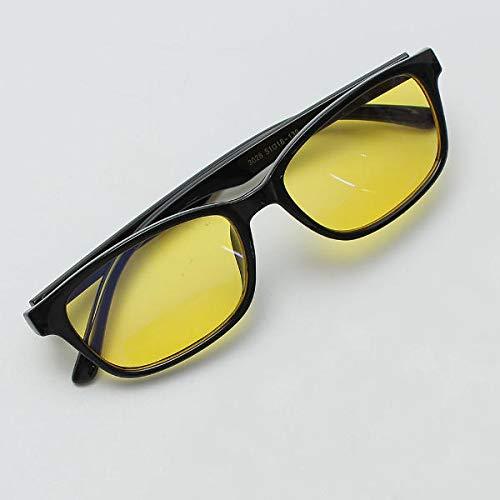 TuToy zwarte veiligheidsbril straling Uv bescherming oogschaduw anti-vermoeidheid bril, Zwart frame, 1