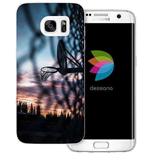 dessana Basketball Transparente Schutzhülle Handy Case Cover Tasche für Samsung Galaxy S7 Edge Trainigsplatz