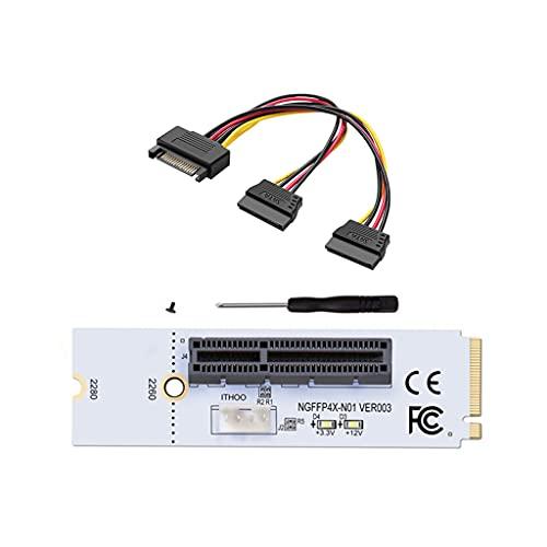 Meipai M.2 a tarjeta adaptadora PCIe NVMe SSD, unidad 2260 2280 M2 a ranura PCI Express 4X de escritorio