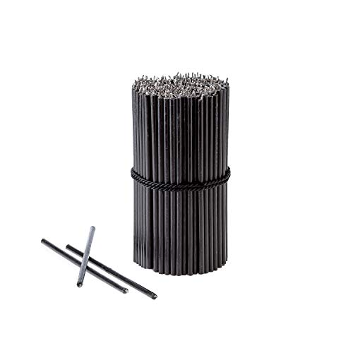 Danilovo Beeswax Taper Candles (Black) - Ritual Candles, Orthodox Church Candle Tapers for Prayer, Decor, Christmas - Tall, Bendable, N80, Height 18,5 cm, Ø 6,1 mm (50 pcs - 250 g)