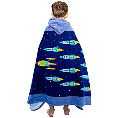 Wowelife Kids Hooded Towel Beach Towel for Bath,Pool and Beach 100% Cotton Soft to Skin and Super Absorbent,30 x 50 inch Extended Length (Not Included Hood) for Boys and Girls