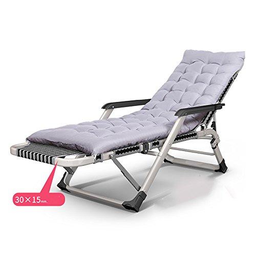 Xiaolin Pliage des draps Personnes lit de Sieste Bureau inclinable lit Balcon Chaise renforcement lit de Camping (Couleur : 04)