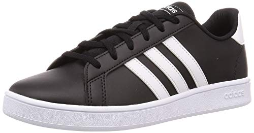 adidas Grand Court K, Chaussure de Tennis, Core Black FTWR White FTWR White, 36 EU