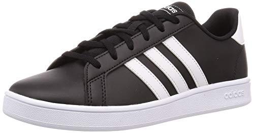 Adidas Tenis Grand Court EF0102 para Jóvenes (Unisex), Color Negro/Franjas Blancas, Talla 22.5 Mex
