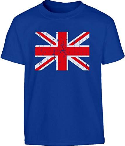 Großbritannien Flagge Fahne Fanshirt Kinder T-Shirt 152 Blau