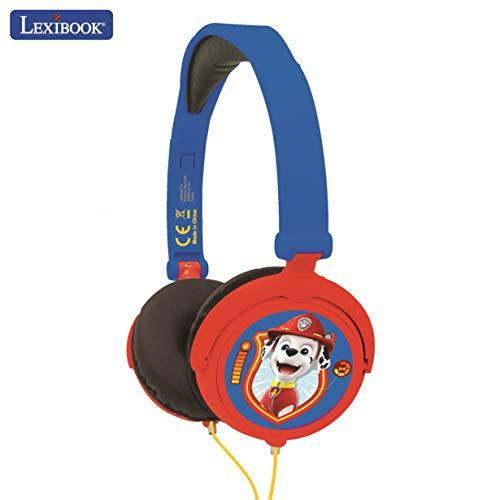 Lexibook HP015PA Paw Patrol Chase Marshall Stereokopfhörer, kinderfreundliche Kraft, faltbar und einstellbar, blau/rot