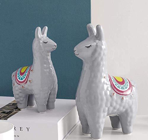 IREANJ Decoraciones del Arte del Arte de la Alpaca decoración de salón de Escritorio de Oficina Estudio en el hogar de cerámica Hucha 2 Decoración