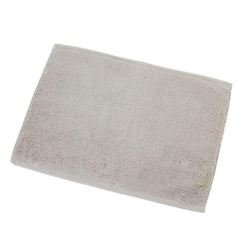 内野(UCHINO) バスマット タオル地 とってもよく吸う タオルマット バスマット 約35×50cm ベーシック 無地 綿100% ダークベージュ1