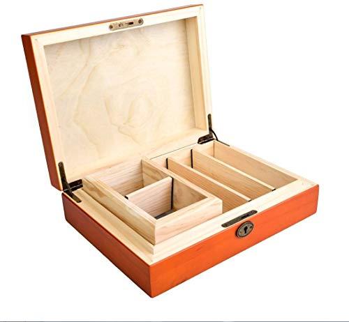 Caja de almacenamiento de lujo de madera barnizada para fumadores + Sifter Box (Tamis) Rolling Supreme 27,5 x 21 x 7,8 cm