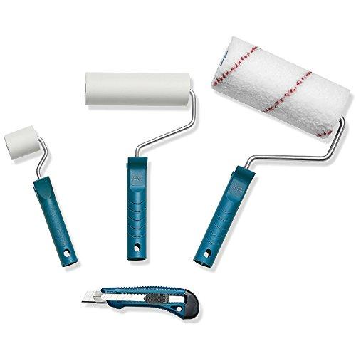 Color Expert Vliestapezierset Vlies-Tapezier-Set Malerset Renovierungsset, Blau, 4-Teilig