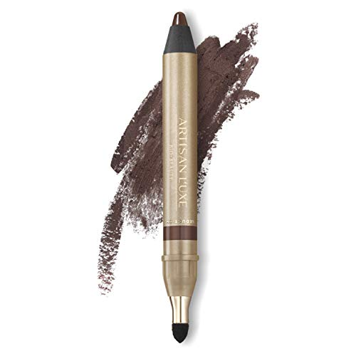Artisan L'uxe Beauty Velvet Jumbo Eyeliner Pencil - Smokey Eyes in 3 Minutes - Water-Resistant, Smudge-Proof, Long-Lasting - Age-Defying Essential Oils - Seduction (Shade: Chocolate Brown)