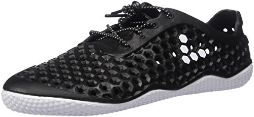 Vivobarefoot Womens Ultra III Bloom Synthetic Black White Trainers 7 US