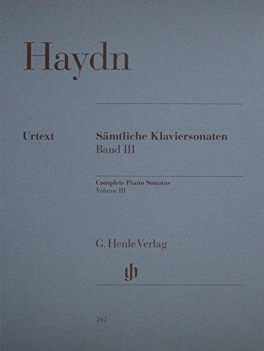 Complete Piano Sonatas Volumeiii (Haydn) Samtliche Klaviersonaten