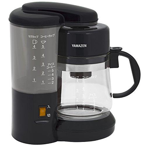 山善 コーヒーメーカー 650ml 1〜5カップ用 ブラック YA-500 B
