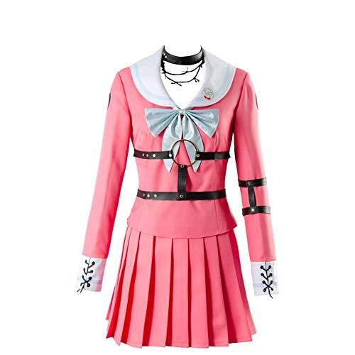ZRDSZWZ Juego completo de uniforme escolar japonés para mujer MIU Iruma (color rosa, tamaño: XXL)