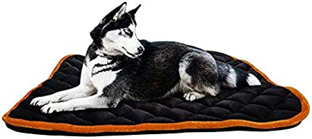 Mellifluous X-Large Size Dog and Cat Reversible Pet Bed, Brown-Black