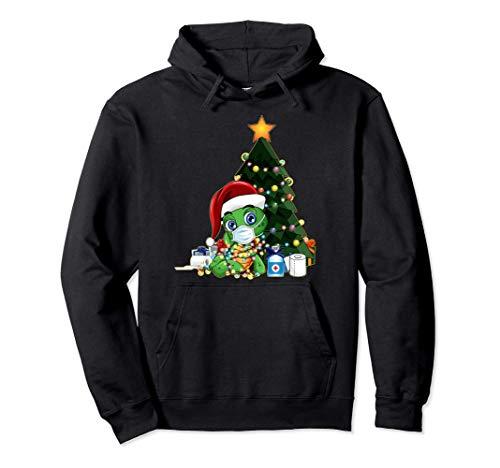 2020 Camisa De Cuarentena De Navidad Mascarilla De Santa Sudadera con Capucha