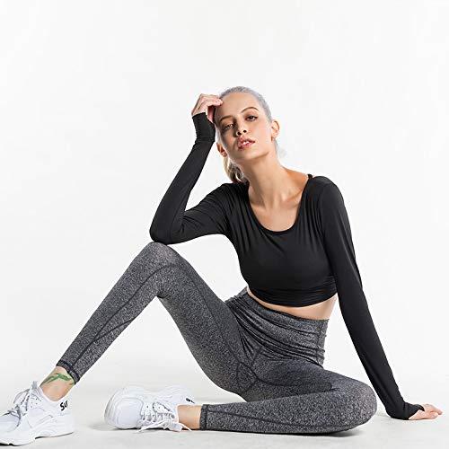 HCYTPL yogaset yoga-kleding vrouwen-shirt met lange mouwen Fitness was dun en mooi terug sneldrogende sportkleding