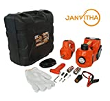 Janvitha DC 12V 3 Tons Electric Hydraulic Car Jack 3 - in - 1 Car Jack Set with Impact Wrench and LED Light for Scross - 12 Months Warranty