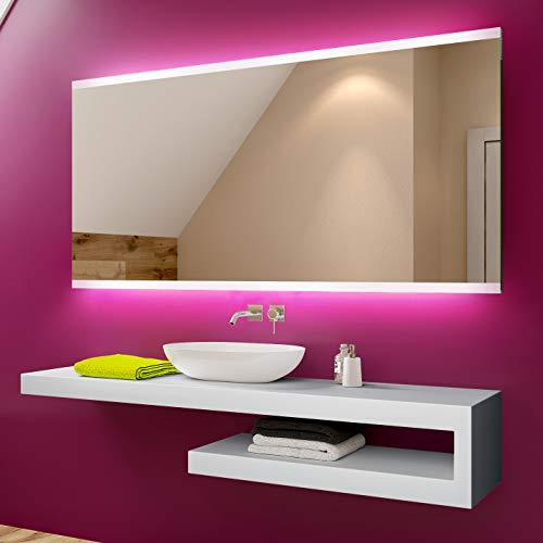 Artforma 150 x 70 cm Espejo de Baño con Iluminación LED - Luz Espejo de Pared con Accesorios - Diferentes tamaños para Baño Dormitorio Maquillaje - L47