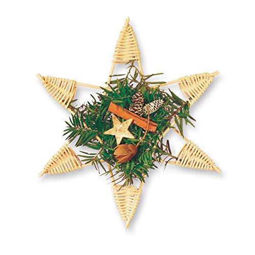 Zita`s Creative Bastelset - Weihnachtsstern. Flechten, Korbflechten, Schilf Set, Peddigrohr, Flechtmaterial, Flechtset, Rattan
