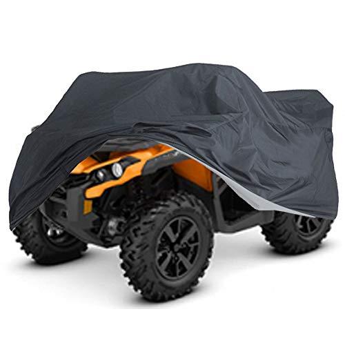 XXXL Quad ATV Abdeckplane NEVERLAND Fahrzeug Abdeckung Schutz Cover Winterfest Staub Regen UV-Schutz Schwarz 256 x 110 x 120 cm