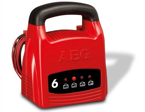 AEG 97001 Cargador LK 1206, 6 Amperios para baterías de 12 V, CE, IP 20