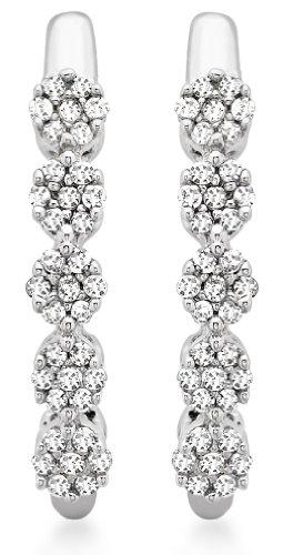Carissima Gold - Orecchini Pendenti da Donna in Oro Bianco 9K (375) con Diamante (0.15 K)