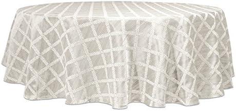 Lenox Laurel Leaf 70 Round Tablecloth Platinum product image