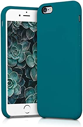 kwmobile Funda para Apple iPhone 6 / 6S - Carcasa de {TPU} para teléfono móvil - Cover {trasero} en {petróleo mate}