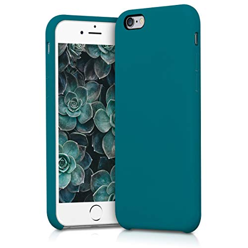 kwmobile Hülle kompatibel mit Apple iPhone 6 / 6S - Handyhülle gummiert - Handy Case in Petrol matt
