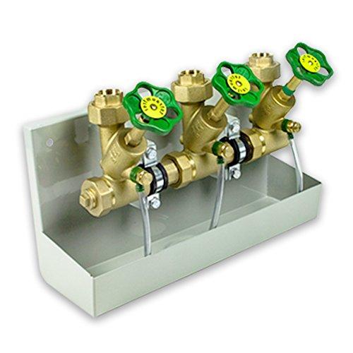 Kompakt-Wasserverteiler mit 6 Abgängen 1 1/2''AG [DN40] und Entleerungswanne
