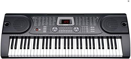 Keyboard 61 Tasten - Aufnahmefunktion, 128 Sounds und 128 Rhythmen - mit Mikrofon
