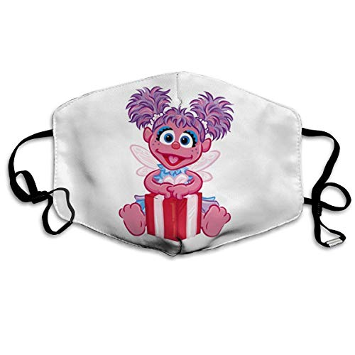 P PIPIGOU Unisex Reusable Face Cover Windproof Abby Cadabby Face Dustproof Mask White
