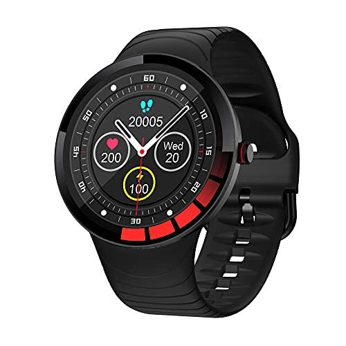 Smart Watch para Hombres, Rastreadores de Fitness con Monitor de Ritmo Cardíaco Monitorear Smart Watch Pedómetro Cronómetro Adecuado para Gimnasio / Deportes / Exterior / de Viaje / Conducción