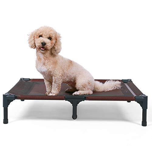 ANWA Cama elevada para perro de gran tamaño, cama elevada para perro para uso al aire libre, cuna portátil para perros grandes