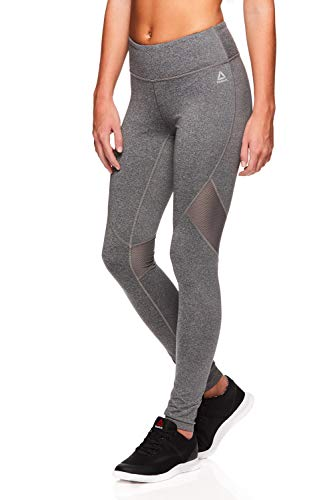 Reebok Women's Legging Full Length Performance Compression Pants - Charcoal Heather, Small