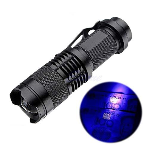 PHH Linterna LED 395 LUMENS BLANCE FOFT Torch Invisible Marcador DE Interna LED LED Linterna UV