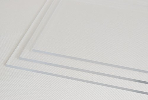Perspex 750mm x 1000mm Clear Acrylic Plastic Sheet - 2mm, 3mm, 4mm Thicknesses (3mm Thick)