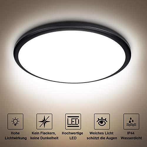 24W LED Deckenleuchte Lampe LED Deckenlampe bedee Badezimmer Wohnzimmer Wasserdichte IP44 Deckenleuchte Bad 4000K 2040LM Deckenbeleuchtung [Energieklasse A++]