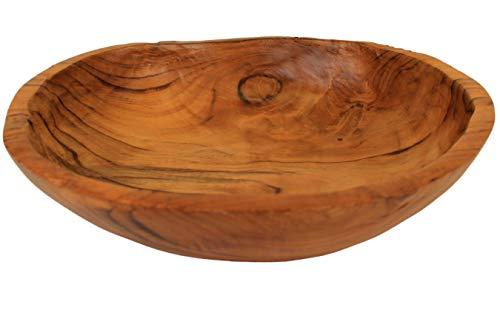 ANDALUCA Teak Wood Hand Carved Organic Bowl (9'-10' Diameter)