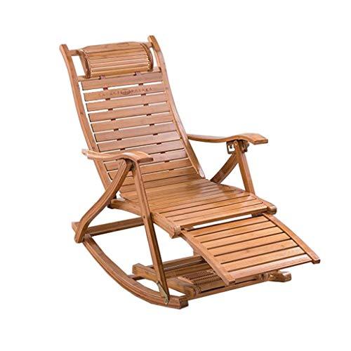 Opvouwbare schommelstoel Stoel Bamboe Stoel Slaapkamer Woonkamer Balkon Zonnebank Patio Tuinstoel Zwangere Vrouw Ligstoelen