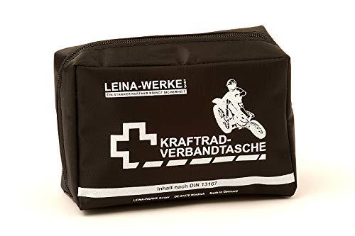 LEINA-WERKE REF 17010 LEINA Kraftrad-Verbandtasche, Inhalt DIN 13167, schwarz, Set of 20