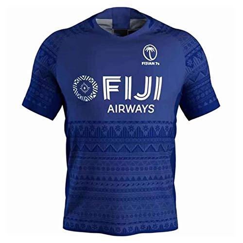 2020 Fidschi Sevens Herren Rugby Jersey, Short Sleeve Schnell trocknend Sport-beiläufige Top fidschianischer 7s Trainings-T-Shirt, Beste Geburtstag-Geschenk S