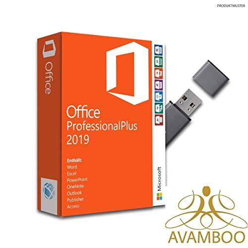 Office 2019 Professional Plus ink. USB-Stick, Aktivierungsschlüssel, Produktschlüssel, Anleitung von Avamboo