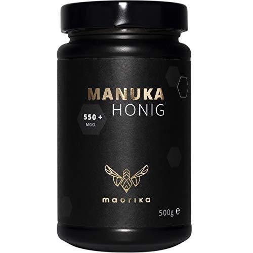 maorika - Manuka Honig 550 MGO + 500g im Glas (lichtundurchlässig, kein Plastik) - laborgeprüft, zertifiziert aus Neuseeland