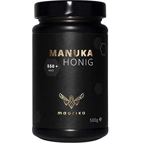 maorika - Manuka Honig 550 MGO + 500g im Glas (lichtundurchlässig, kein Plastik) - laborgeprüft
