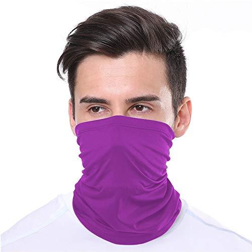KUNSTIFY | Multifunktionstuch Mundschutz | Bandana Herren Damen Schlauchschal Halstuch Hygienemaske Mund Nasenbedeckung Maske Baumwolle Outdoor | elastisch atmungsaktiv waschbar (Lila)