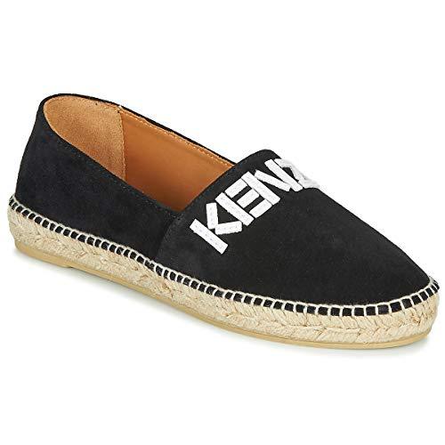 Kenzo Espadrille Elastic Stoffpantoletten/Espandrillos Damen Schwarz - 35 - Leinen-Pantoletten Mit Gefloch Shoes