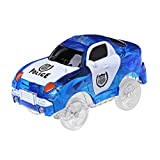 Lunji. Circuit Voiture Cars Lumineux Voiture pour Magic Track, 5 Lumières (Bleu)